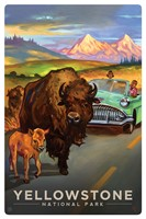 WY006MP - Yellowstone NP Bison Crossing Magnetic PC