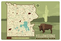 WY043MP - Map of Yellowstone NP Magnetic PC