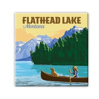 MT010SM - Flathead Lake MT Square Magnet
