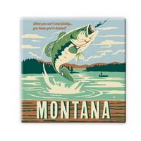 MT026SM - MT Gone Fishing Square Magnet