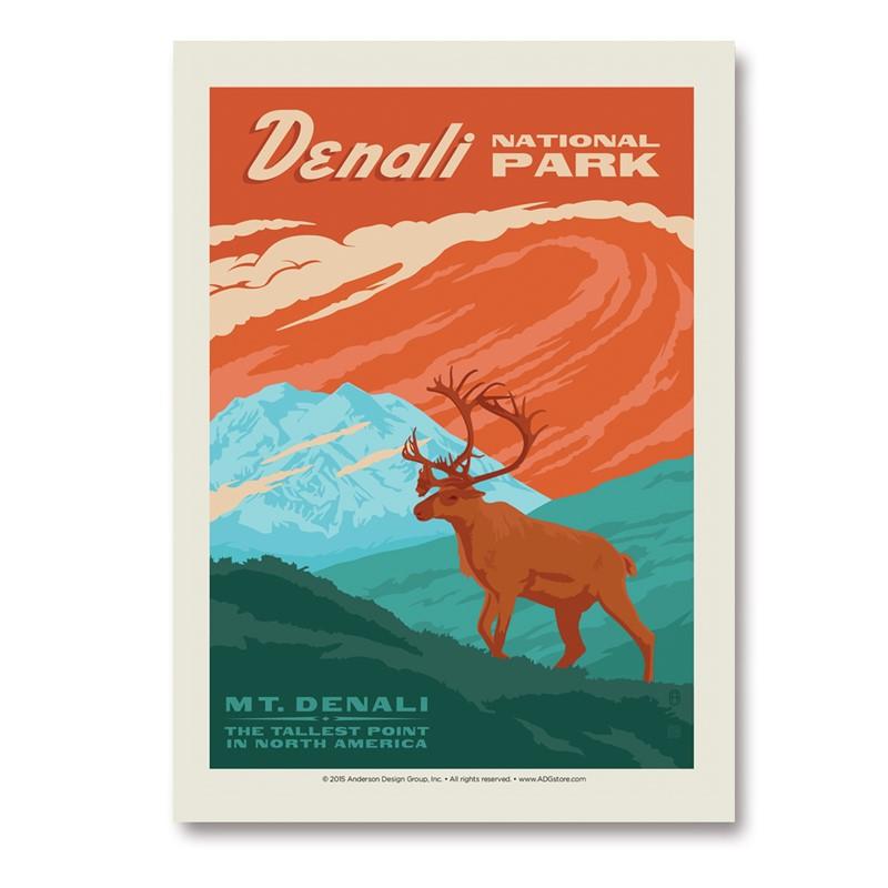 Denali Np Vertical Sticker