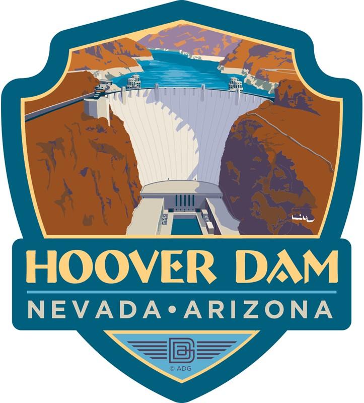 Hoover Dam Emblem Sticker American Made